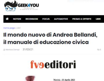 Rassegna stampa Il mondo nuovo - Geek4you, 31.03.21