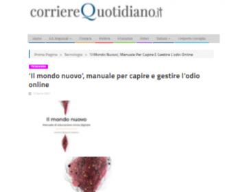 Rassegna stampa Il mondo nuovo - corriereQuotidiano 12.04.21
