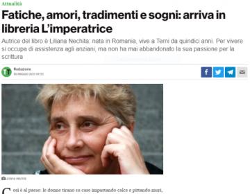 Rassegna stampa L'Imperatrice - TerniToday 06.05.21