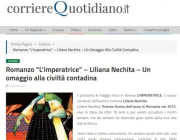 Rassegna stampa L'Imperatrice - corriereQuotidiano 23.04.21