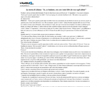 Rassegna stampa L'imperatrice - La Repubblica 23.05.21