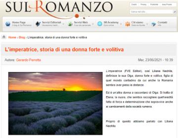 Rassegna stampa L'imperatrice - Sul Romanzo 23.06.21