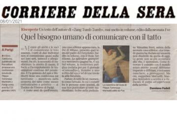 Rassegna stampa Tattilismo (articolo) - Corriere della Sera - 08.01.21