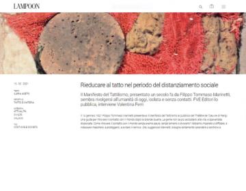 Rassegna stampa Tattilismo (schermata) - Lampoon Magazine 13.02.21