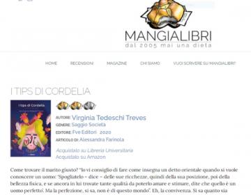 Rassegna stampa Tips (schermata) - Mangialibri 01.02.21