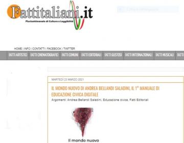 Rassegna stampa il mondo nuovo - Fatti italiani 23.03.21-1