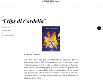 Schermata Convenzionali - I tips di Cordelia